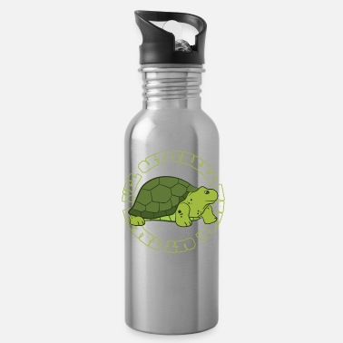 Turtle I'll get there when i get there - Water Bottle