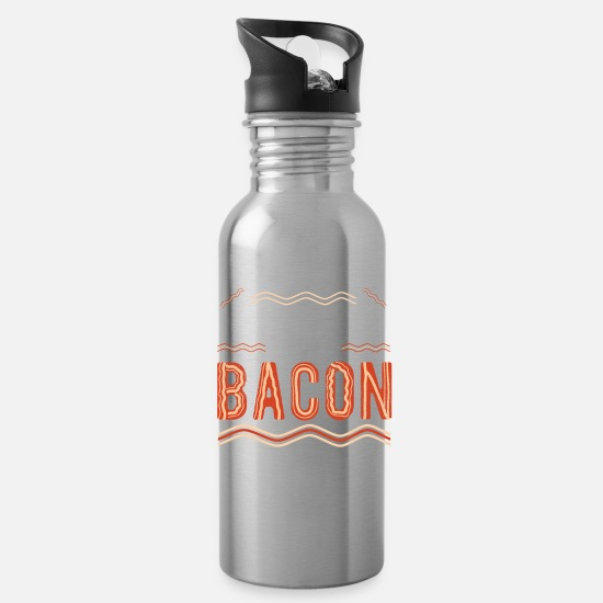 Love Mugs & Drinkware - Funny Bacon - Cool Bacon Lover Saying - Water Bottle silver