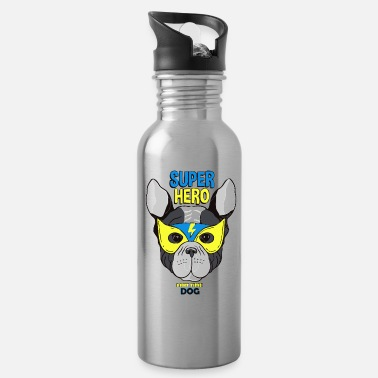 Dog super hero dog 01 - Water Bottle