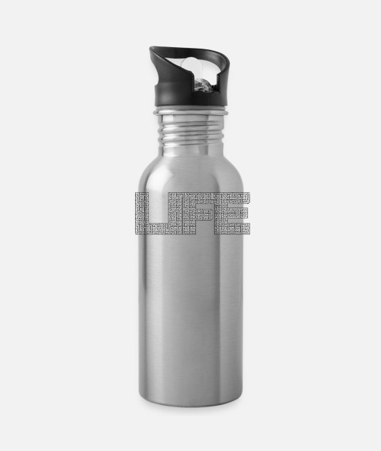 Goes On Mugs & Cups - Quotes - Water Bottle silver
