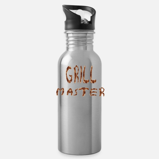 Grillmaster Mugs & Drinkware - Grillmaster - Water Bottle silver