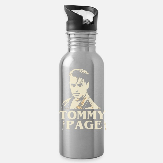 Rest In Peace Mugs & Drinkware - tommy page - Water Bottle silver
