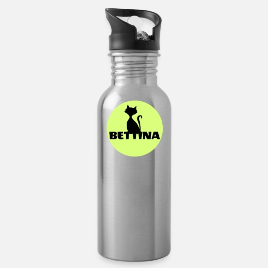 Birthday Mugs & Drinkware - Bettina first name - Water Bottle silver