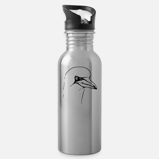 Boobies Mugs & Drinkware - Blue-Footed Boobies - Water Bottle silver