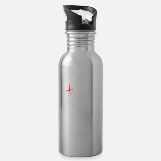Gift Idea Mugs & Drinkware - Health and Fitness - Water Bottle silver