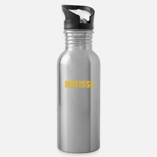 Typography Mugs & Drinkware - Matisse... Inspirational Fashion - Water Bottle silver
