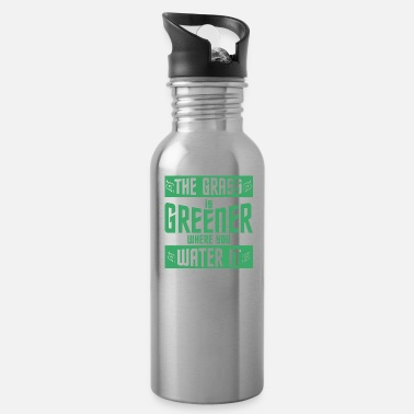 Grass The grass is greener - Water Bottle