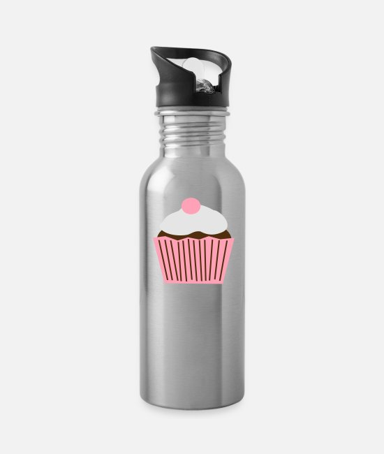 Sumu Lee Cupcake Mugs & Cups - cupcake - Water Bottle silver