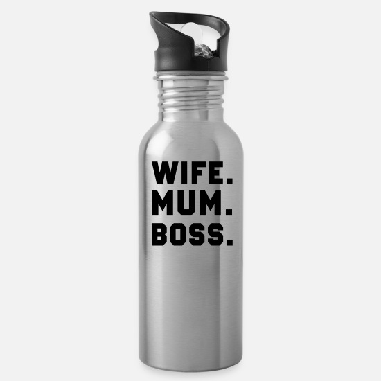 Super Mugs & Drinkware - Wife - Water Bottle silver