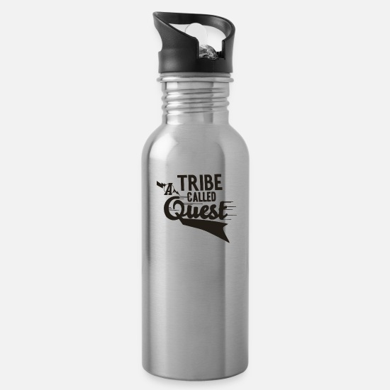 Tribe Mugs & Drinkware - a_tribe_called_quest_black - Water Bottle silver