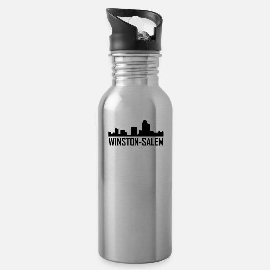 Winston-Salem North Carolina City Skyline Water Bottle