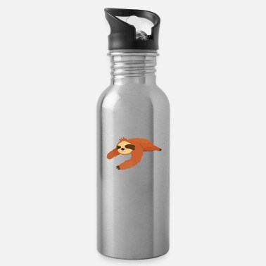 Animal Gift animal chilling lazy laziness funny animals - Water Bottle