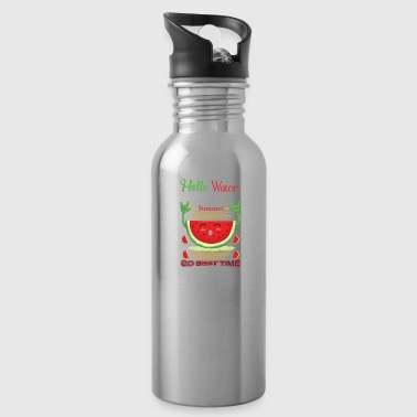Watermelon summer funny motive fun kid fun - Water Bottle