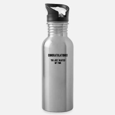 Cynical cynical timewaste shirt gift idea - Water Bottle
