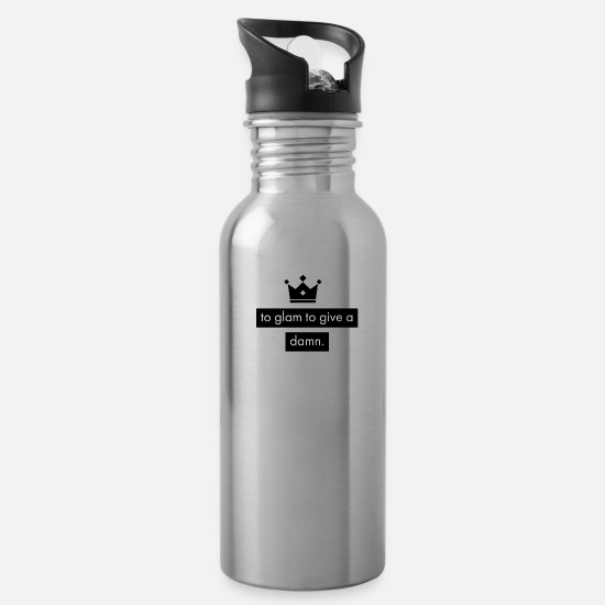 Established Mugs & Drinkware - to glam to give a damn - Water Bottle silver