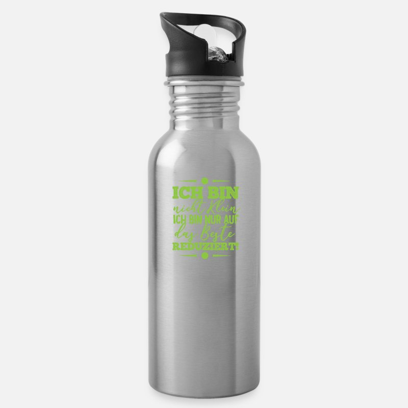 Funny Quote Water Bottle Silver