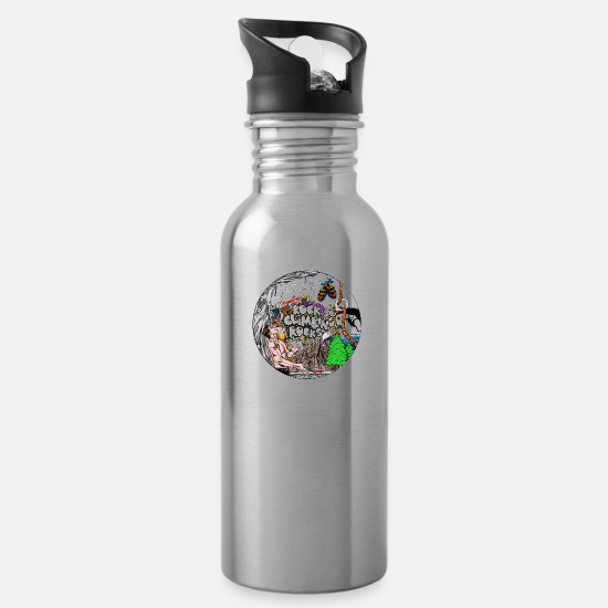 Climbing Mugs & Drinkware - Rock Climbing Rocks - Water Bottle silver
