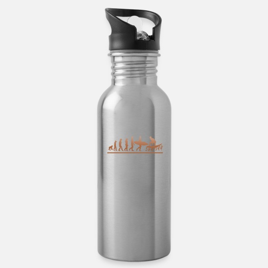 Age Mugs & Drinkware - Surfing until evolution - Water Bottle silver