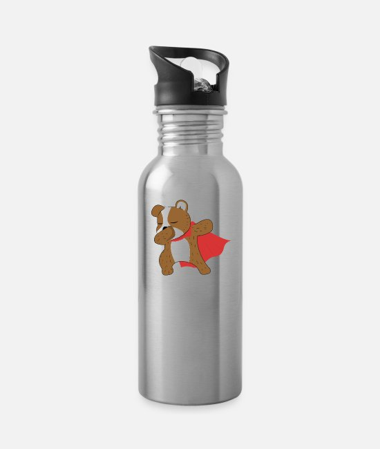 Trendy Mugs & Cups - Dabbing Dog Dab - Water Bottle silver