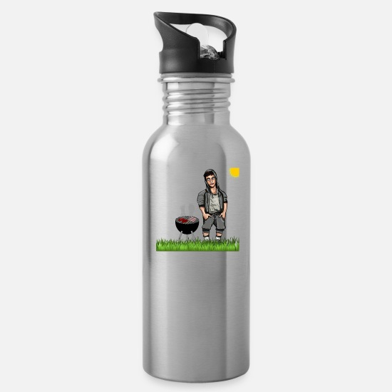 Boyband Mugs & Drinkware - Grill boy - Water Bottle silver