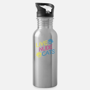 Live Nude Cats - Water Bottle