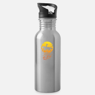 Western Riding ride free western riding freedom cowgirl gift - Water Bottle