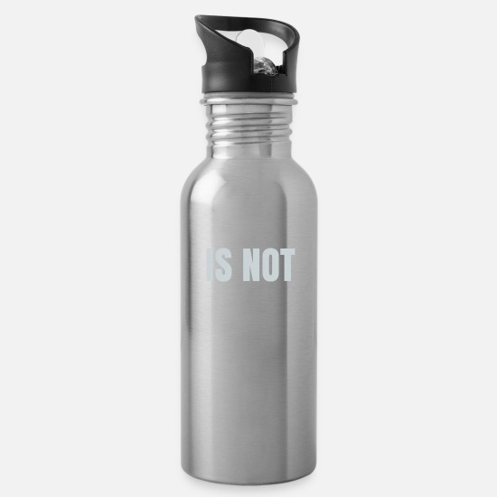 Time Travel Mugs & Drinkware - Time is not - Water Bottle silver