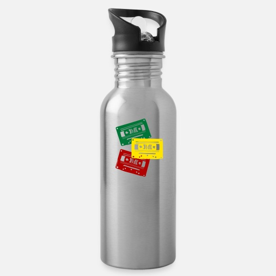 Rasta Mugs & Drinkware - REGGAE TAPES - Water Bottle silver