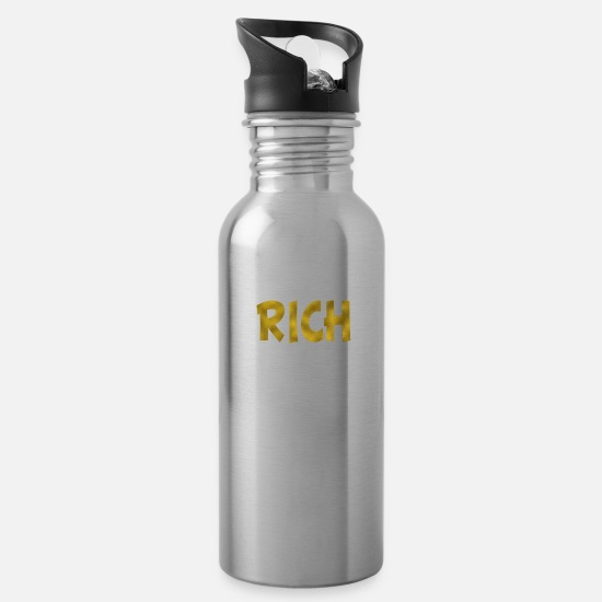 Gold Mugs & Drinkware - Rich Gold - Water Bottle silver