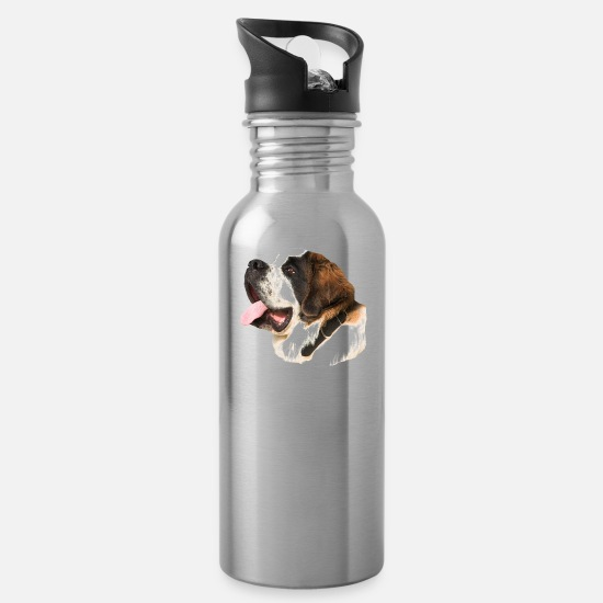 Lovers Mugs & Drinkware - Dog,Dog Lovers,Dogs,Dog love, - Water Bottle silver