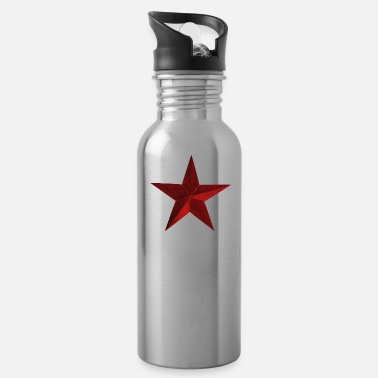 Star Red Star Dark Scuffed Old - Gift Idea - Water Bottle