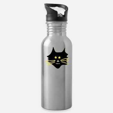 Asterisk Cute cat with asterisks - Water Bottle