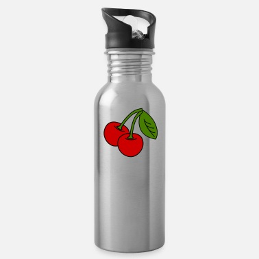 cherries v1_3_color - Water Bottle