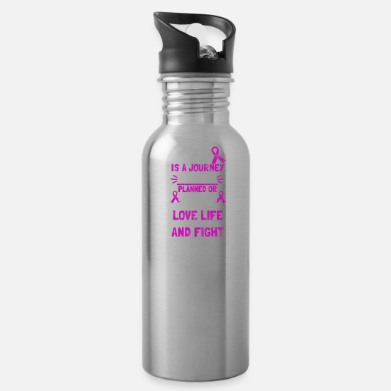 Awareness Mugs & Drinkware - shirt for lupus awareness - lupus is a journey - Water Bottle silver