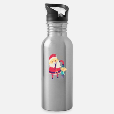 I like to touch my elf | Naughty Xmas Santa - Water Bottle