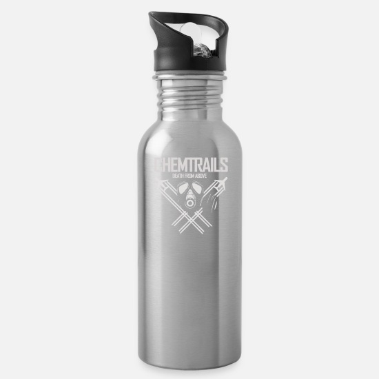 Chemtrails Mugs & Drinkware - Chemtrails Alert The Masses Full - Water Bottle silver