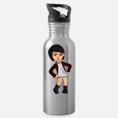 Obstruction Girl with hands on hips 2 - Water Bottle