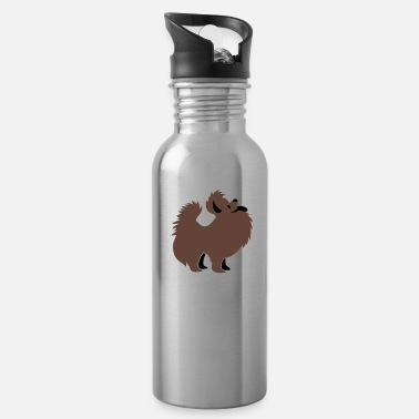 Little super cute pomeranian fancy show little dog breed - Water Bottle