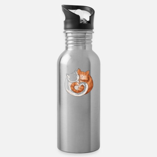 Love Mugs & Drinkware - A furry ball of love - Water Bottle silver