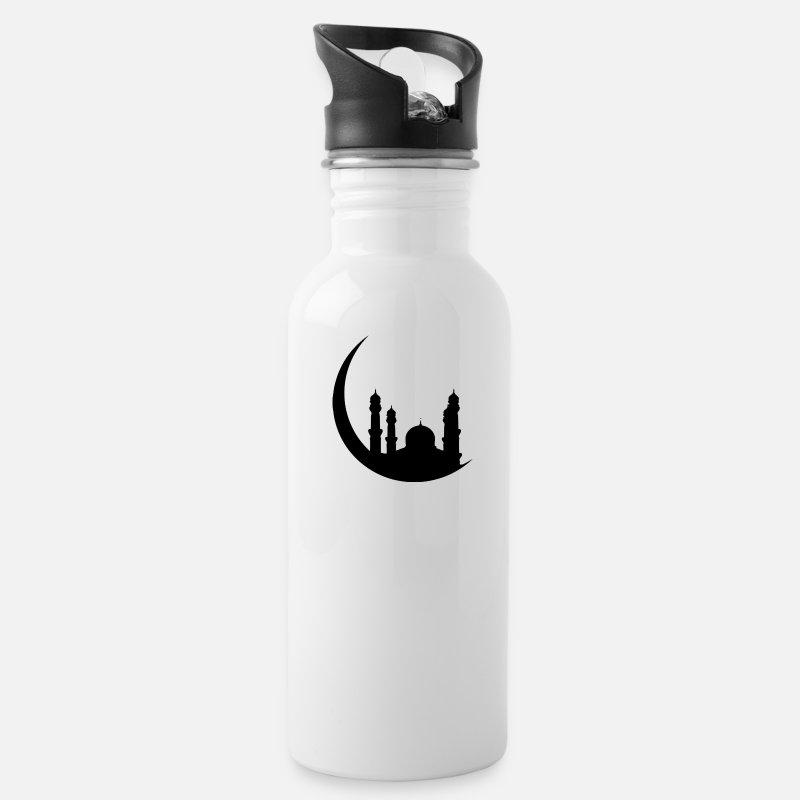 Ramadan Islam T-Shirt Muslim Arabic Water Bottle - white