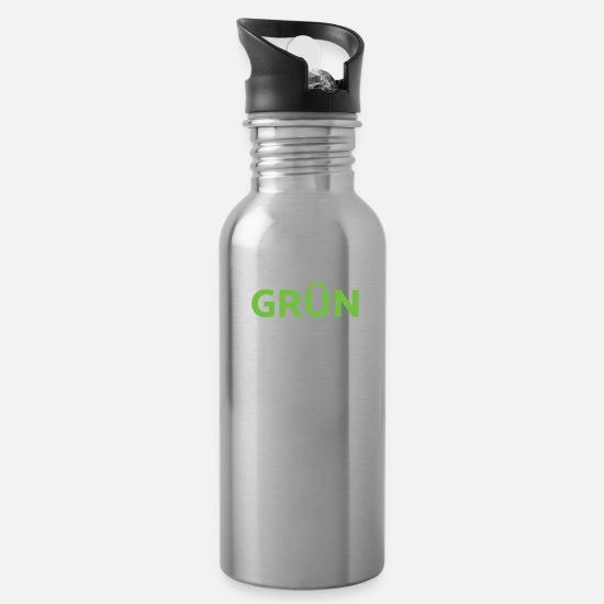Future Mugs & Drinkware - Fridays for Future Climate Protection Environment - Water Bottle silver