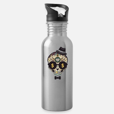 Skull Classy Halloween Money Sugar Skull - Water Bottle