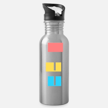 Inspire colorful life quote - Water Bottle