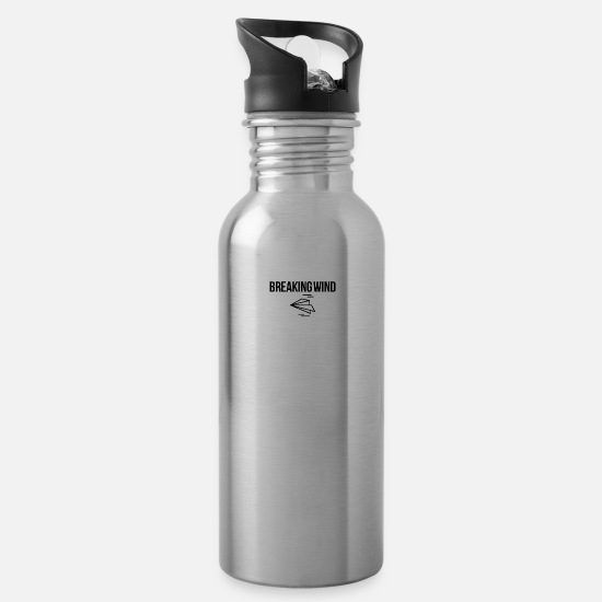 Paper Mugs & Drinkware - Breaking wind - Water Bottle silver