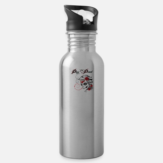 Dead Mugs & Drinkware - Day of the dead - Water Bottle silver