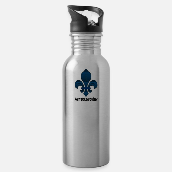 Quebec Mugs & Drinkware - party boileau quebec - Water Bottle silver