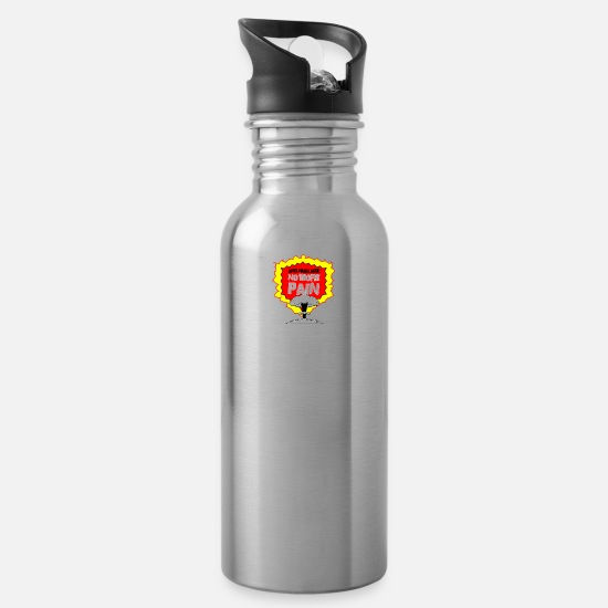 Chernobyl Mugs & Drinkware - anti atomic bomb no more pain - Water Bottle silver