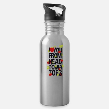 Tomatoe Pun I Love You From Head Tomatoes - Water Bottle