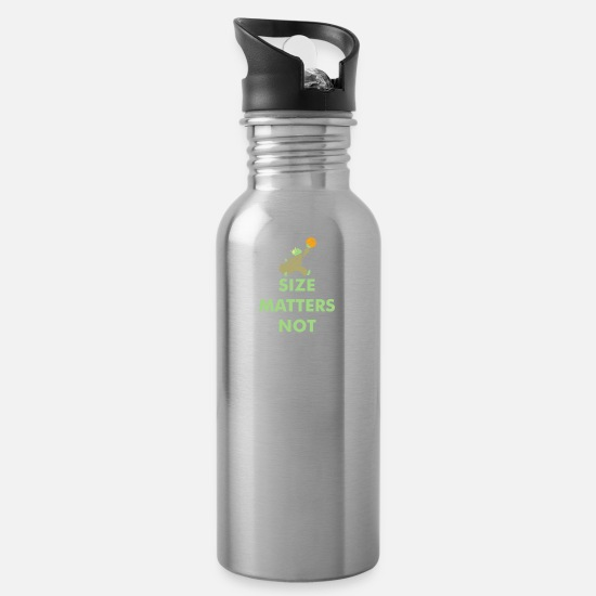 Fate Mugs & Drinkware - Size Matters Not - Water Bottle silver