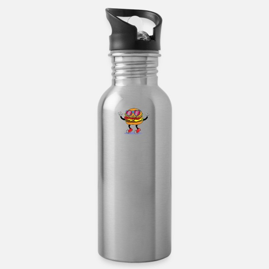 Funky Mugs & Drinkware - Funky Burger - Water Bottle silver